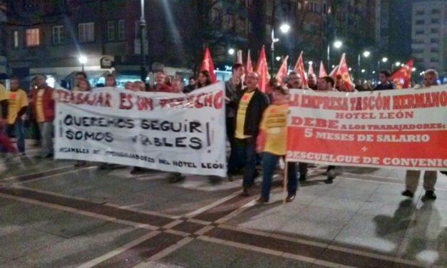 CJC – PCPE Apoyando a los trabajadores del hotel león en gijón
