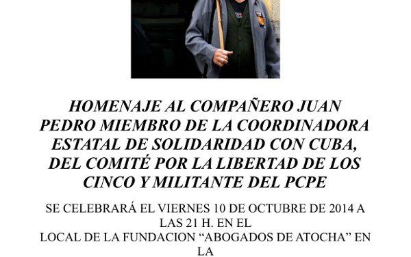 Homenaje al Camarada Juan Pedro