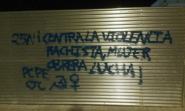 Agitación contra la violencia machista y por un 25N combativo en las calles de Miguelturra, Ciudad Real