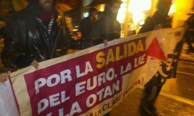 Intervención del PCPE y los CJC de Castilla-La Mancha en las Marchas de la Dignidad