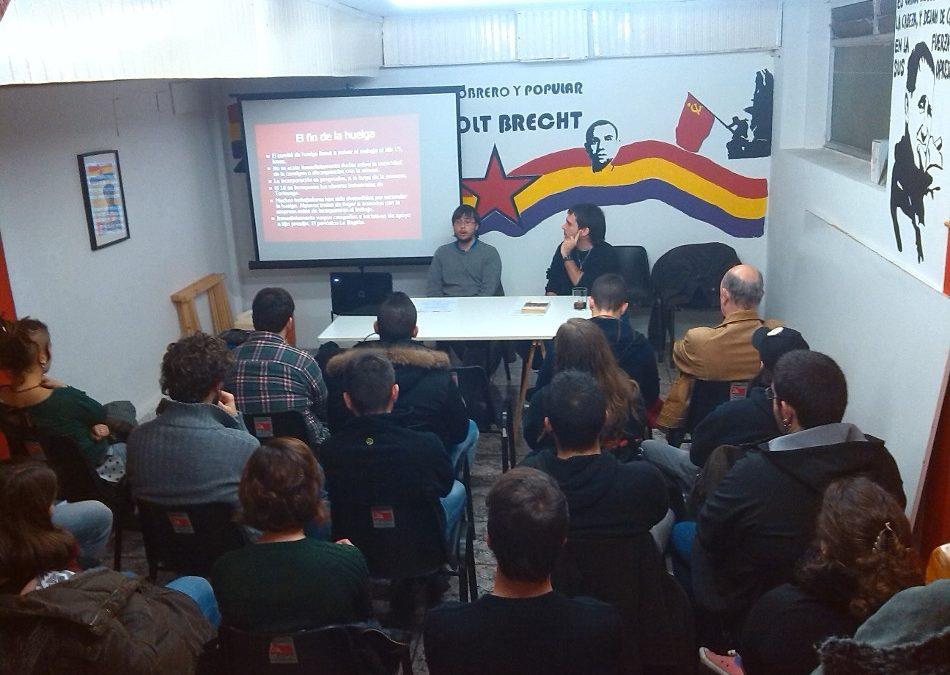 """Charla """"La revolución de octubre del 34"""" y fiesta antirrepresiva y de solidaridad con el movimiento estudiantil."""