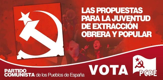 Ejes centrales de la propuesta de los y las comunistas. (5) LAS PROPUESTAS PARA LA JUVENTUD DE EXTRACCIÓN OBRERA Y POPULAR.