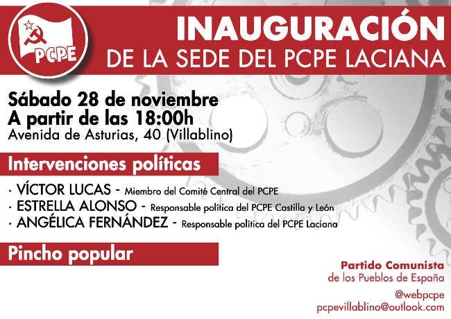 Nuevo local en Villablino, inauguración 28 de noviembre