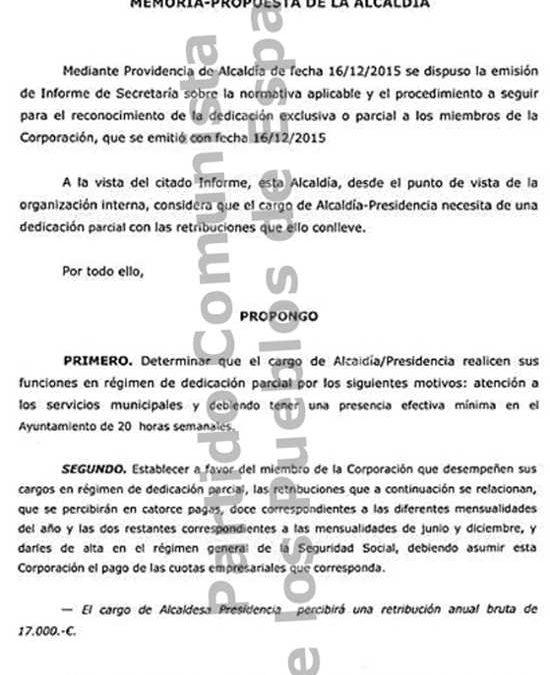 El PCPE denuncia el sueldo a la figura de la alcaldía en Villasequilla