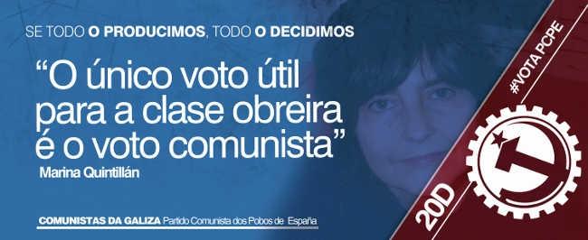 Entrevista a Marina Quintillan. El único voto útil es el voto comunista.
