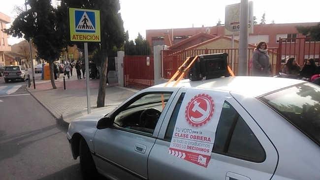 Campaña electoral del PCPE cara a las elecciones general del 20D en Toledo