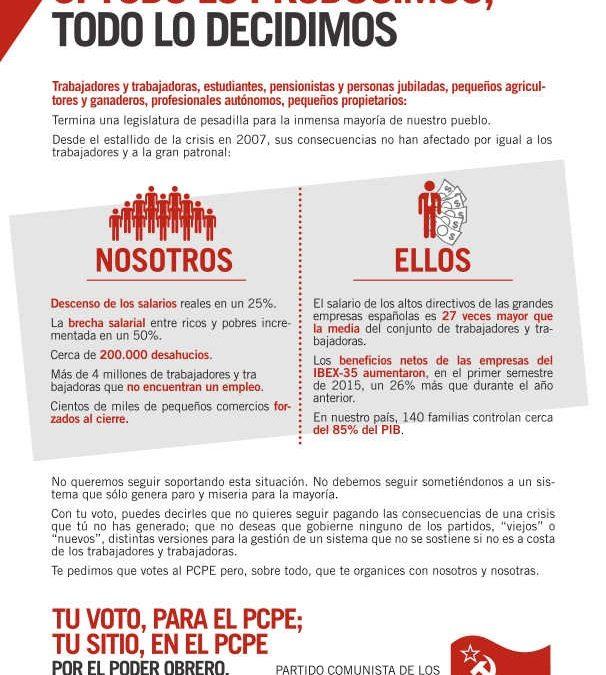 Octavilla de campaña electoral en La Rioja