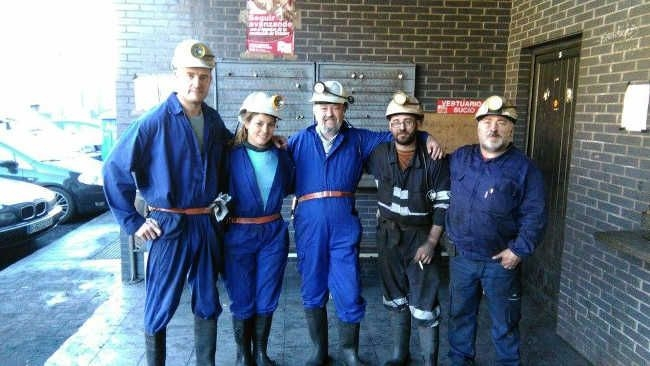 Con el KKE en la mina de Zarréu (Cerredo)