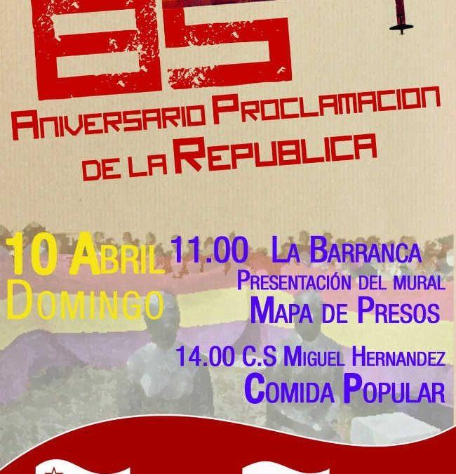 Actos de conmemoración del 85 aniversario de proclamación de la II república