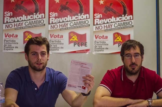 Los candidatos del PCPE exponen los motivos por los que la formación se presenta a las elecciones