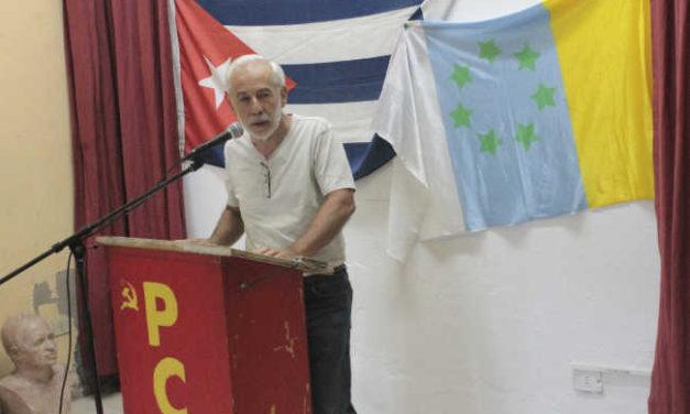 Crónica del acto contra el bloqueo a Cuba y celebración del90 cumpleaños de Fidel Castro