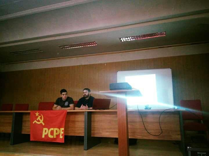 """Crónica del acto """"Lucha, internacionalismo, unidad"""" en Burgos"""