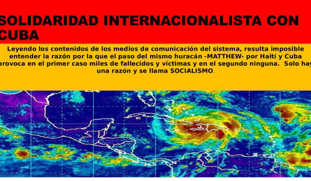 Solidaridad  internacionalista con Cuba