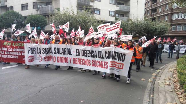 El telemarketing en huelga, el PCPE León continúa apoyando su lucha