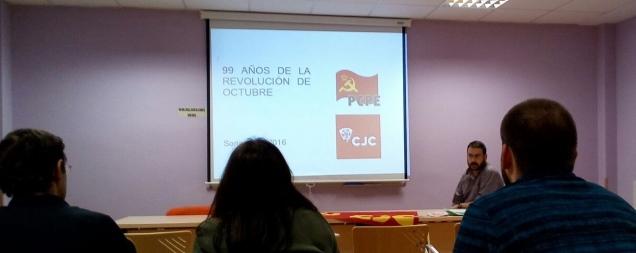 Acto sobre la Revolución de Octubre en Soria
