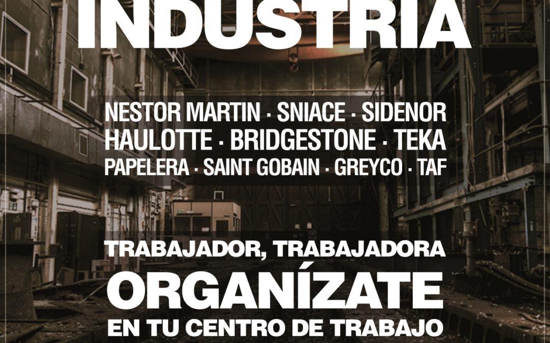 ¡Solidaridad con los trabajadores de Sidenor!