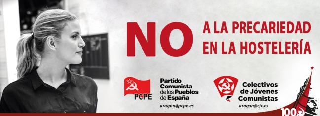 El PCPE y los CJC ante la ruptura de las negociaciones del convenio provincial de hostelería de Zaragoza