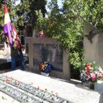 Homenaje en el panten de Alcampell