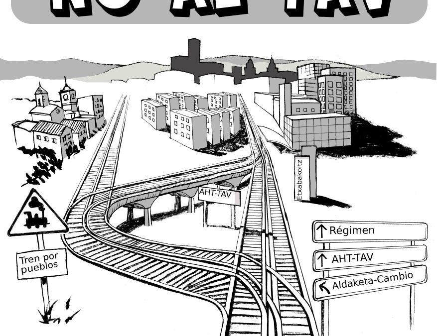 Concentración en Navarra: ¡Sí al tren, no al TAV!