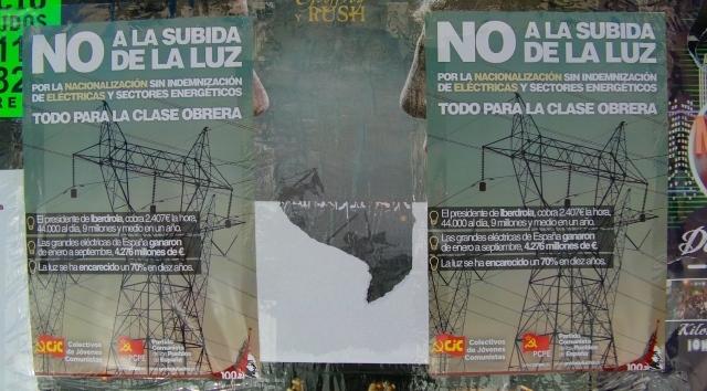 PCPE en Extremadura: Por la nacionalización de las eléctricas