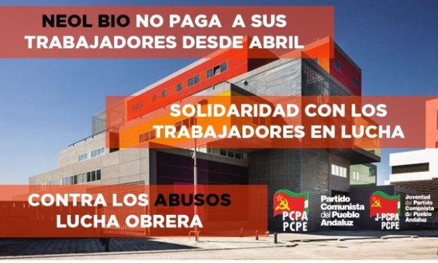 Solidaridad con los trabajadores y trabajadoras de Neol Bio Granada