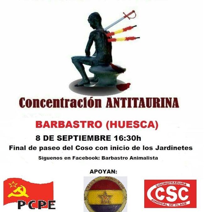 Concentración contra el maltrato animal en Barbastro (Huesca)
