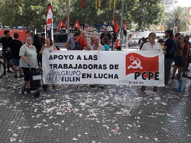El PCPA-PCPE de Málaga en solidaridad con las trabajadoras de Eulen en huelga