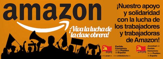 ¡Nuestro apoyo y solidaridad con la lucha de los trabajadores y las trabajadoras de Amazon!