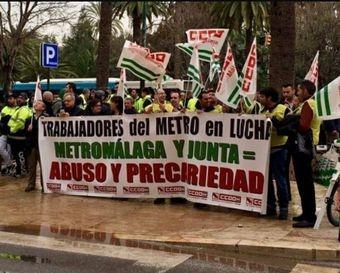No más represión. Por un convenio justo en Metro Málaga.