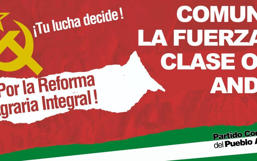 Proclamación del PCPA en las ocho provincias andaluzas