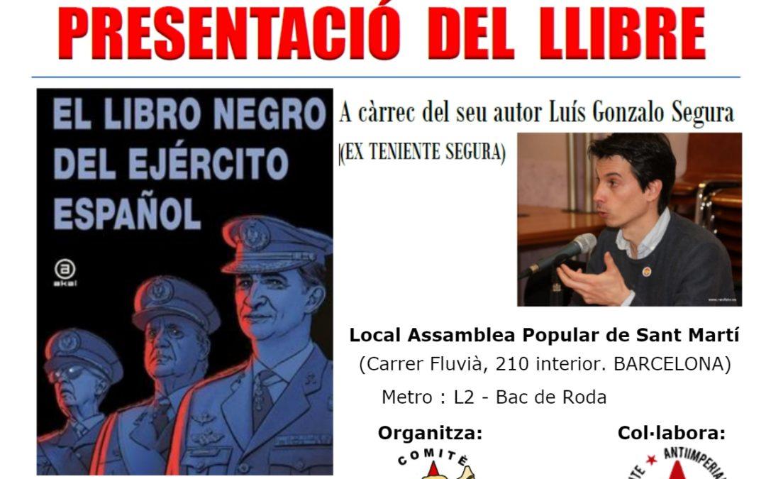 """Presentación de """"El libro negro del Ejército Español"""" en Barcelona"""