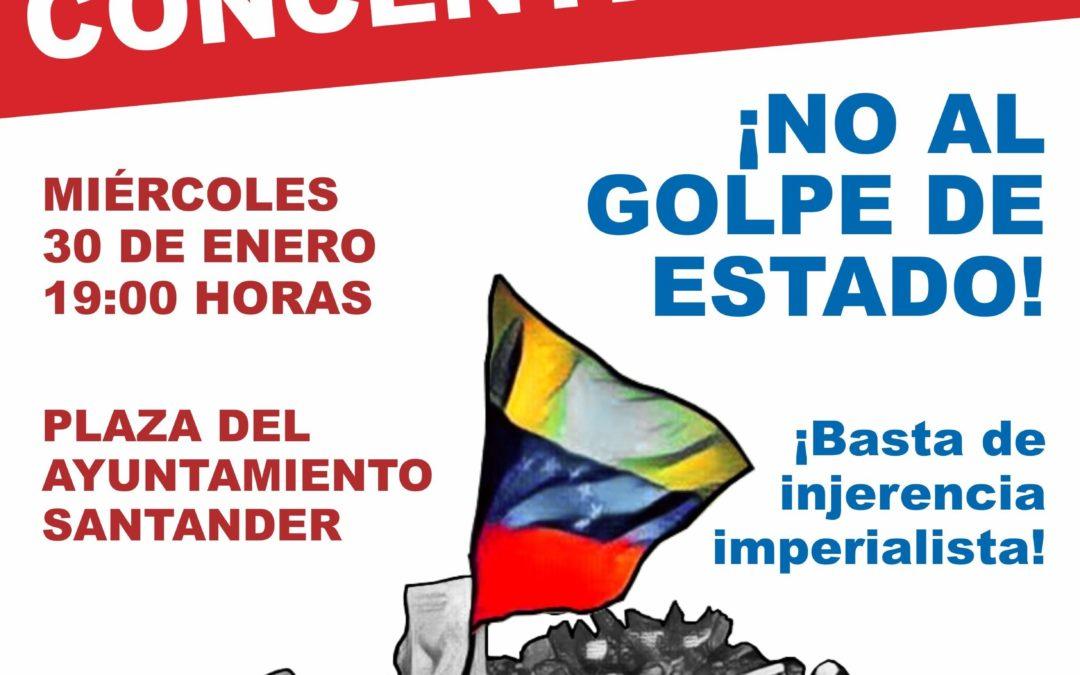 Concentración en Santander contra el golpe de Estado en Venezuela