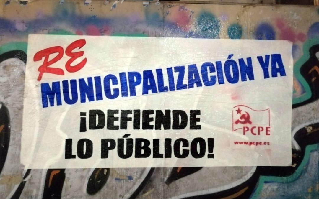 Solidaridad con la plantilla de parques y jardines de Santander