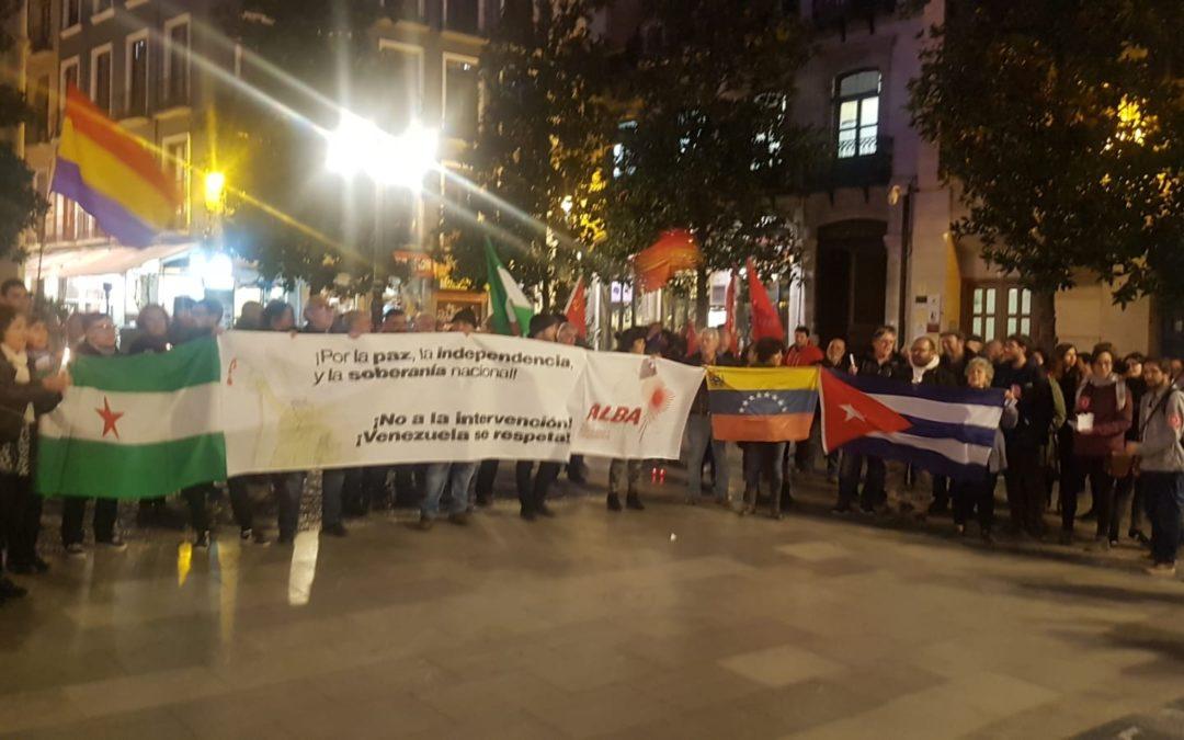 Crónica de la movilización por Venezuela en Granada