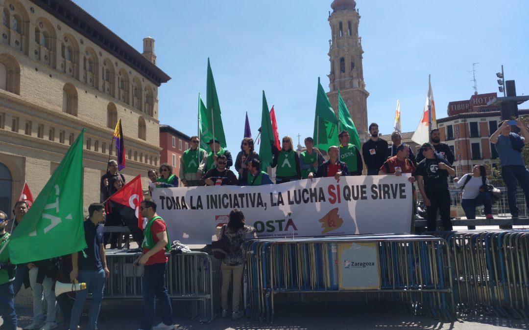 Crónica del 1 de mayo en Aragón