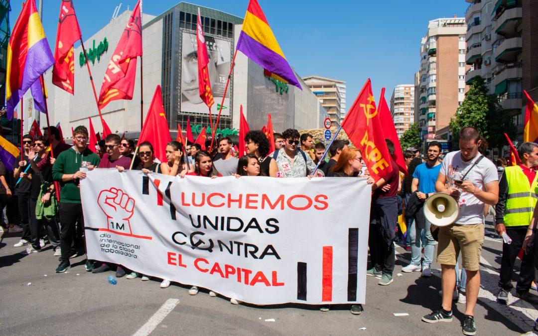 Crónica del 1 de mayo en Murcia