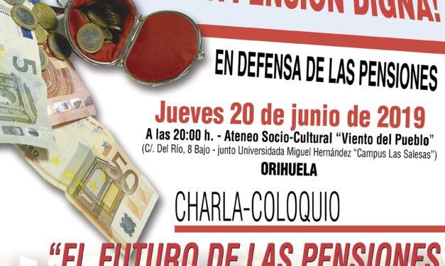 Acto sobre las pensiones en Orihuela