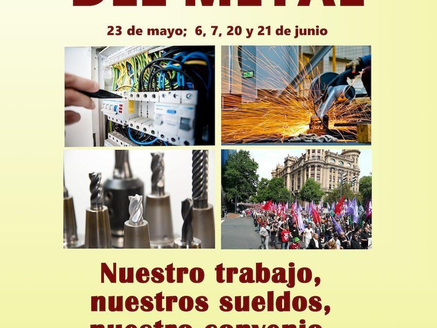 Huelga del metal en Euskadi: 23 de mayo; 6, 7, 20 y 21 de junio