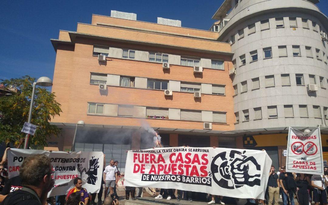 El pueblo trabajador de Madrid contra las casas de apuestas