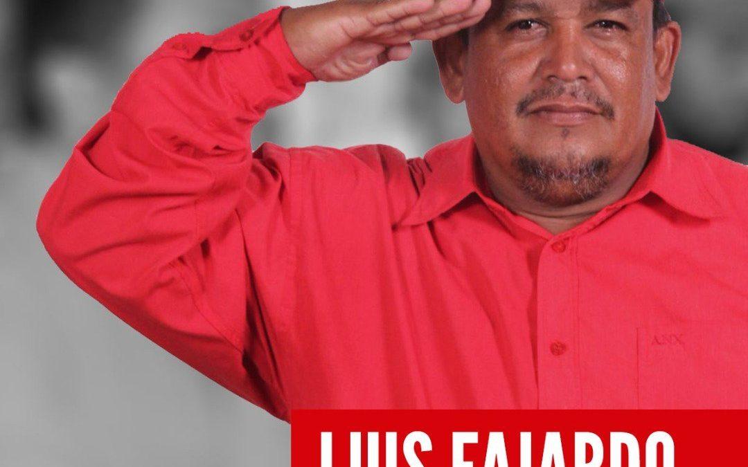 A un año del vil asesinato de Luis Fajardo, el PCV continúa exigiendo castigo a los culpables y asignación de tierras a los campesinos