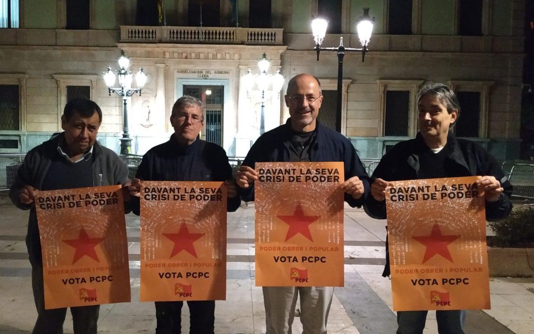 Inici de campanya del PCPC a la subdelegació del govern