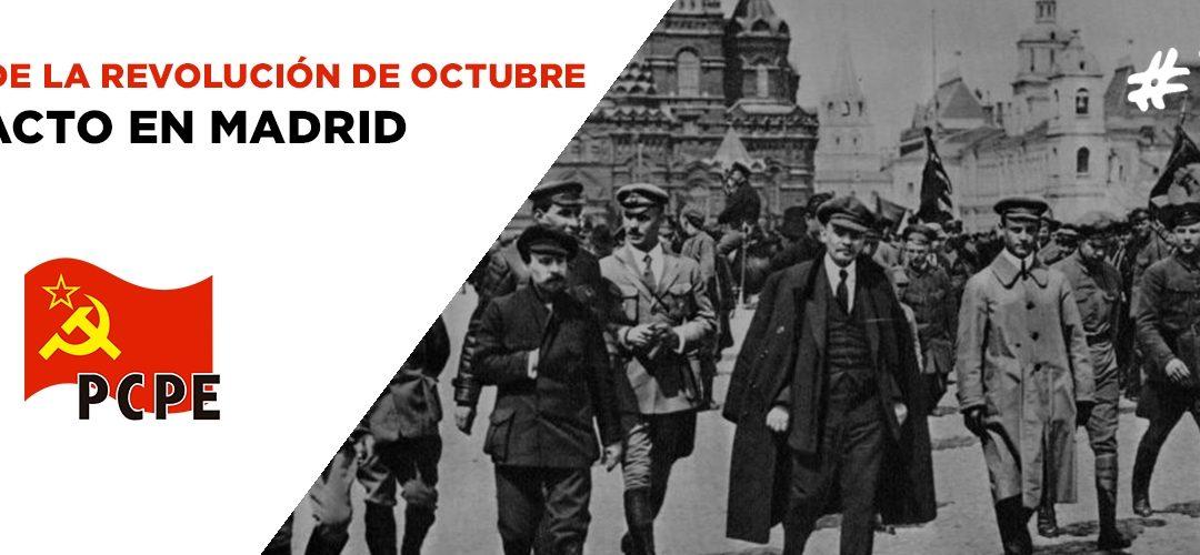 102 años de la revolución de Octubre (1917 – 2019), en Madrid