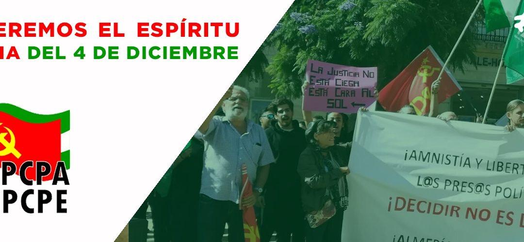 Recuperemos el espíritu de lucha del 4 de Diciembre
