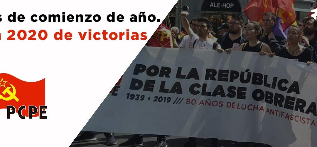 Brindis 2020 del PCPE – Madrid