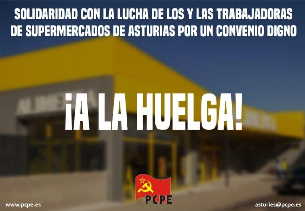Solidaridad con la lucha de los y las trabajadoras de supermercados de Asturias por un convenio digno