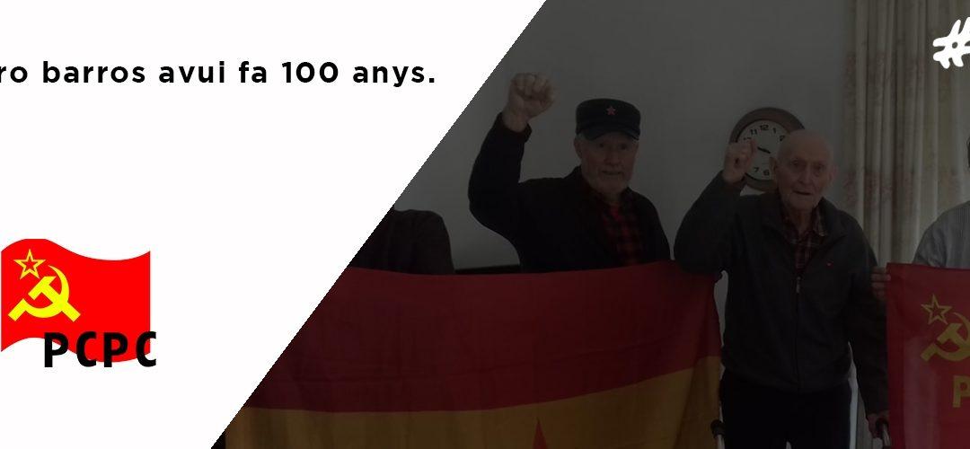 Josep Soro Barros avui fa 100 ayns