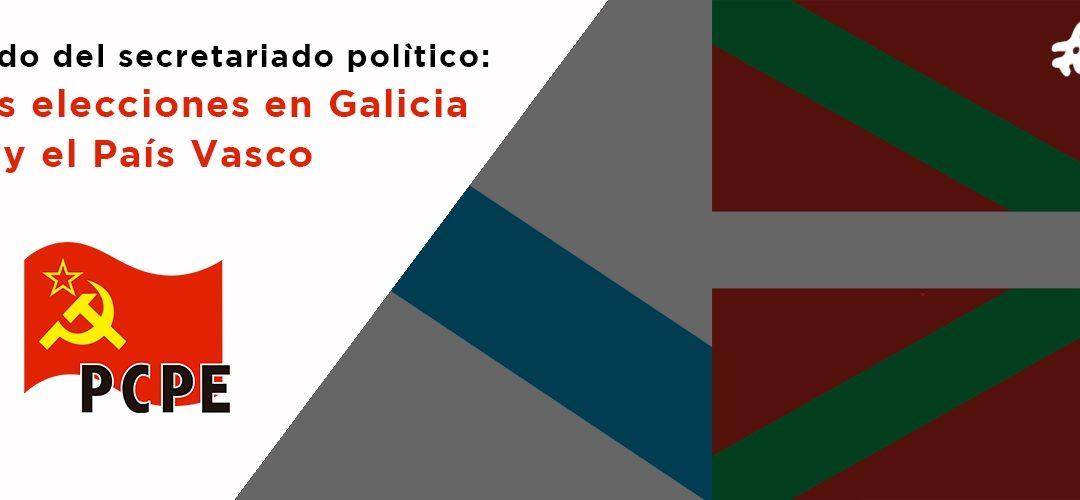 El PCPE ante la convocatoria de elecciones autonómicas en la comunidad autónoma Vasca y Galiza