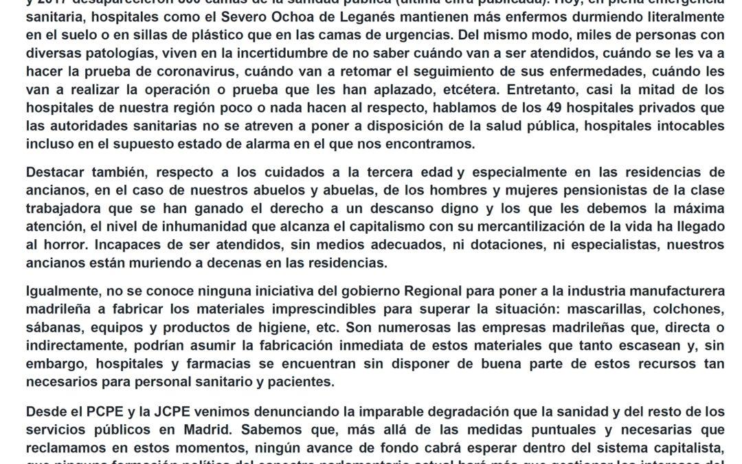 [Madrid] Sanidad pública ahora y siempre