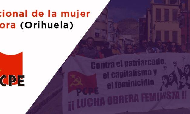 Día de la mujer trabajadora en Orihuela
