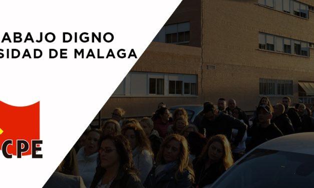 Por unas condiciones de trabajo dignas en la Universidad de Málaga y en todo el sector de limpieza